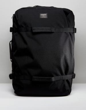 Sandqvist Рюкзак и сумка дафл из вельвета эко-ткани рипстоп Zack. Цвет: черный