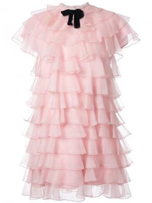 Платье Bon Macgraw. Цвет: розовый и фиолетовый