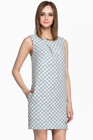 Платье из хлопка AR1-142824 Babylon. Цвет: разноцветный