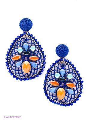 Серьги Kameo-bis. Цвет: синий, оранжевый