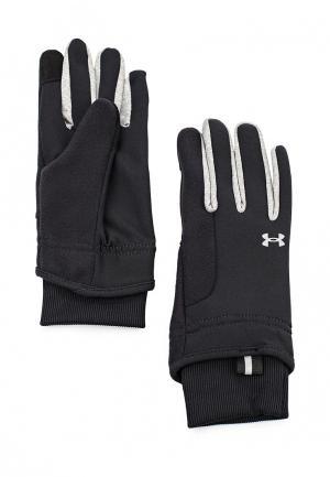 Перчатки беговые Under Armour. Цвет: черный