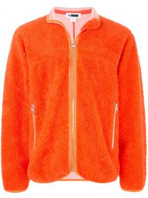 Кардиган на молнии H Beauty&Youth. Цвет: жёлтый и оранжевый
