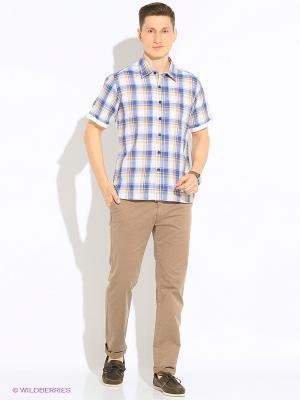 Рубашка KARFLORENS. Цвет: светло-голубой