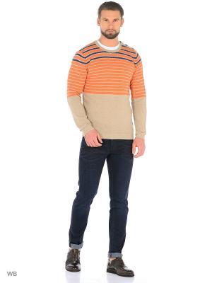 Джемпер United Colors of Benetton. Цвет: оранжевый, бежевый
