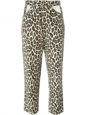 Джинсы с леопардовым принтом Jean Paul Gaultier Vintage. Цвет: телесный