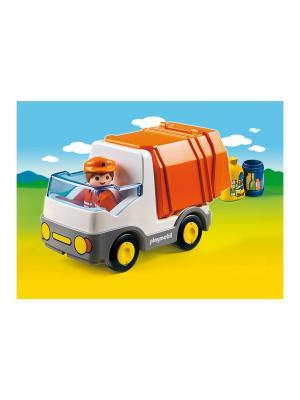 Мусоровоз Playmobil. Цвет: белый, оранжевый