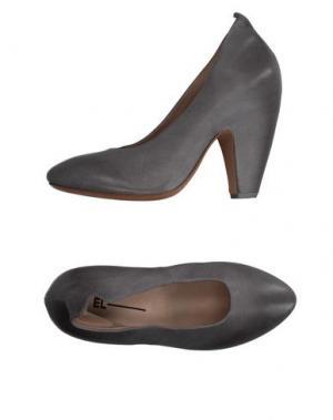 Туфли EL. Цвет: серый