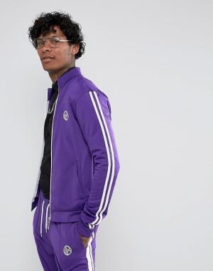 Jaded London Фиолетовая спортивная куртка с полосками. Цвет: фиолетовый