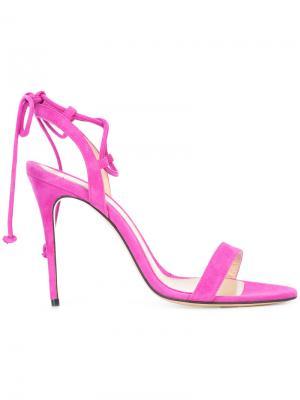 Босоножки на шпильке с завязками вокруг щиколотки Monique Lhuillier. Цвет: розовый и фиолетовый