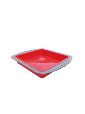 Форма для выпечки силикон 20*20*4 см Peterhof. Цвет: красный