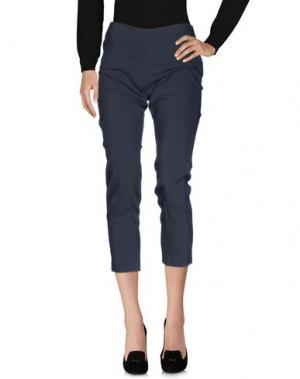 Повседневные брюки AGATHA CRI. Цвет: стальной серый