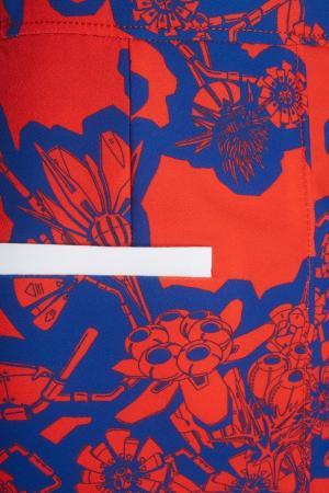 Комбинированная юбка-мини Carven. Цвет: синий, красный, белый