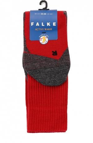 Утепленные носки Active Warm Falke. Цвет: красный