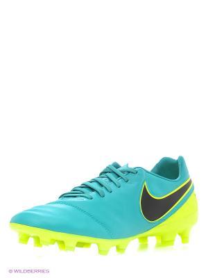 Бутсы TIEMPO LEGACY II FG Nike. Цвет: желтый, зеленый, черный