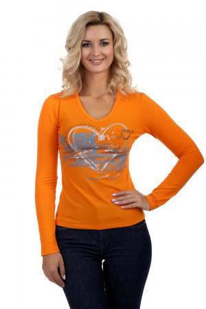 Лонгслив Just Valeri. Цвет: оранжевый