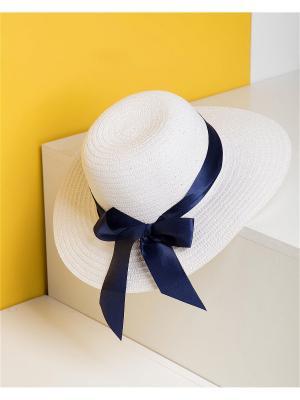 Шляпа Deseo. Цвет: голубой,белый