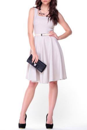 Платье MAURINI. Цвет: светло-бежевый