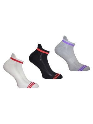 Носки 3 пары Master Socks. Цвет: белый, черный, серый