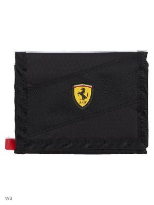 Кошелек Ferrari Fanwear Wallet PUMA. Цвет: черный