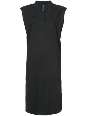 Платье шифт Zero + Maria Cornejo. Цвет: чёрный