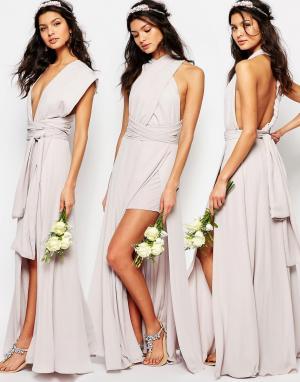 Fame and Partners Платье-трансформер Ainsley. Цвет: серый