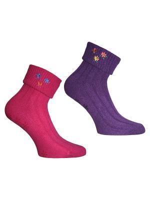 Носки, 2 пары Master Socks. Цвет: розовый, фиолетовый