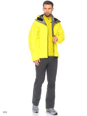 Куртка TERREX TECHROCK GORE-TEX JACKET Adidas. Цвет: желтый, черный