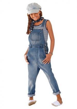 Джинсовые брюки Arizona. Цвет: джинсовый синий