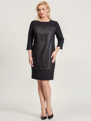 Платье Amelia Lux. Цвет: черный, розовый