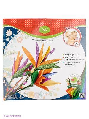 Набор для создания бумажных цветов Стрелиция Делай с мамой. Цвет: темно-синий, красный