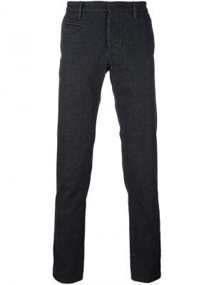 Фактурные брюки Incotex. Цвет: чёрный
