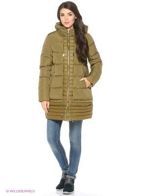 Пальто Snow Guard. Цвет: хаки