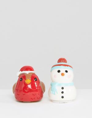 Beauty Extras Два бальзама для губ в виде снеговика и малиновки. Цвет: бесцветный