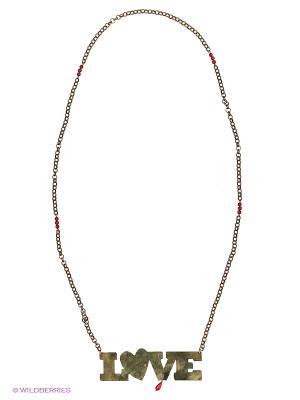 Ожерелье Polina Selezneva. Цвет: золотистый, коралловый