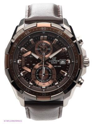 Часы EDIFICE EFR-539L-5A CASIO. Цвет: бронзовый, темно-коричневый