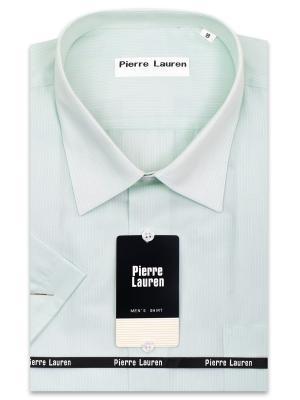Рубашка Pierre Lauren. Цвет: светло-зеленый, голубой