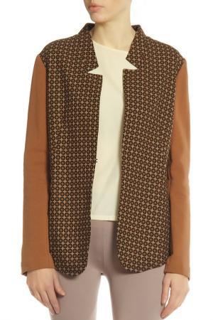 Куртка Alysi. Цвет: коричневый