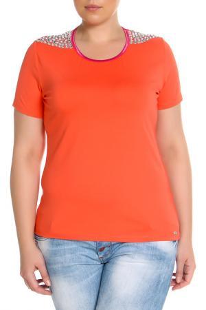 Блуза SARAH KERN. Цвет: коралловый