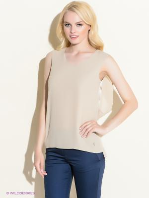 Блузка 18CRR81 CERRUTI. Цвет: бежевый