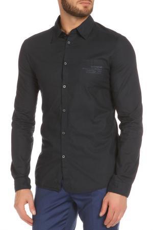 Полуприлегающая рубашка с застежкой на пуговицы ERMANNO BY SCERVINO. Цвет: 749 синий
