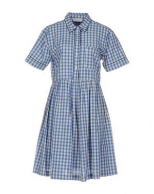 Платье до колена AGLINI. Цвет: синий