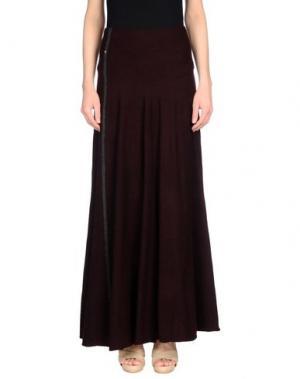 Длинная юбка OBLIQUE CREATIONS. Цвет: баклажанный