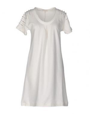 Короткое платье HANNY DEEP. Цвет: белый