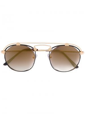 Солнцезащитные очки с круглой оправой Spektre. Цвет: металлический