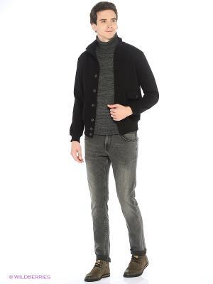 Куртка трикотажная Пряник. Цвет: черный