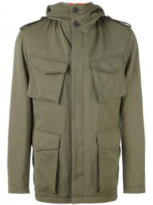 Куртка-карго Wooster + Lardini. Цвет: зелёный