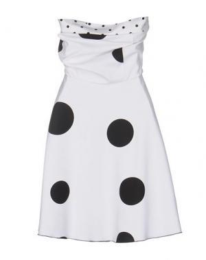 Короткое платье CRISTINAEFFE. Цвет: белый