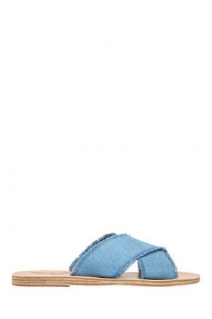 Джинсовые сандалии Ancient Greek Sandals. Цвет: голубой