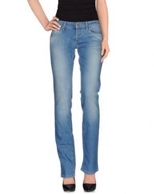 Джинсовые брюки EXTE. Цвет: синий