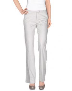 Повседневные брюки TRUE ROYAL. Цвет: светло-серый